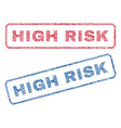 high risk textile stamps vector image vector image
