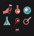 in vitro fertilisation icons vector image