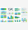 infographics set charts diagrams and graphs vector image vector image