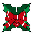 isolated christmas holly vector image