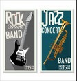 jazz and rock concert banner vector image vector image