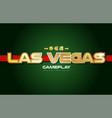 las vegas word text logo banner postcard design vector image