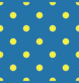 lemon slices seamless pattern flat food texture vector image