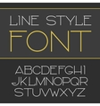 linear font - simple and minimalistic vector image vector image