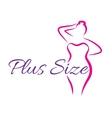 Logo plus size woman Curvy symbol vector image vector image