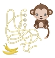 Maze game for preschool children with monkey and