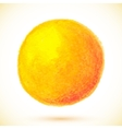 Orange isolated watercolor paint circle vector image