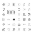 parcel icons vector image vector image