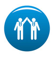 partnership icon blue vector image vector image