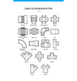 pipes and components vector image vector image