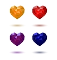 Polygonal heart Red Yellow Blue Purple vector image vector image