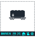 Railroad tank icon flat vector image