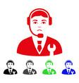 sad call center boss icon vector image vector image