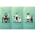 scientist cartoon characters set science vector image