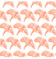 seamless algae pattern vector image