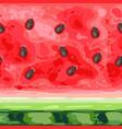 seamless pattern slice ripe watermelon with vector image