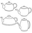 set of coffee or tea pot vector image