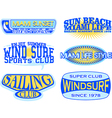 Set of retro vintage nautical labels vector image