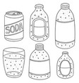 set of soda vector image vector image