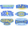 set retro vintage nautical labels vector image