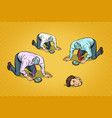 several headless men looking for head vector image vector image