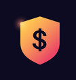 shield with dollar sign glowing neon icon banking vector image