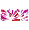 smears lipstick nail polish brush strokes set vector image vector image