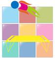 Sport icon for gymnastics on trampoline vector image vector image