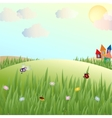 Summer glade lodges and insects vector image