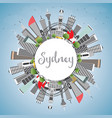 sydney australia city skyline with gray buildings vector image vector image