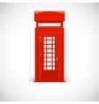 Telephone box Londone style vector image