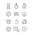 time symbols calendar clock fast work time vector image vector image