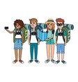 tourist people cartoon vector image