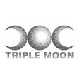 triple moon magic and astronomy vecor t-shirt vector image