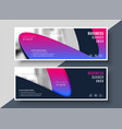 vibrant modern business banners with image space vector image