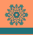 vintage mandala pattern retro green on vector image vector image