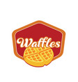 waffle-logo vector image vector image