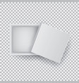 white open empty squares cardboard box isolated on vector image vector image