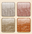 Wooden backgrounds for the app icons vector image vector image