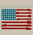 2018 calendar with an american flag vector image vector image