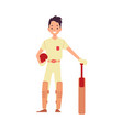 a man cricket player cricketer and batsman stands vector image