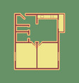 apartment house floor plans cordovan icon vector image