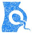 artificial insemination grunge icon vector image vector image