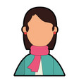 beautiful woman with winter clothes vector image