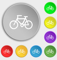 Bicycle icon sign Symbol on eight flat buttons vector image vector image