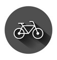 bicycle sign icon in flat style bike on black vector image vector image