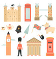 big set of london symbols and attractions vector image vector image