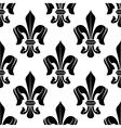 Black and white fleur-de-lis floral pattern vector image vector image