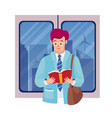 books reading flat set vector image vector image