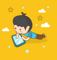 boy learning online good for print design vector image
